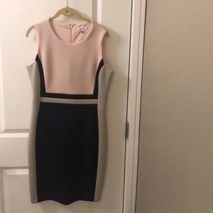 Calvin Klein color block scuba dress size 12
